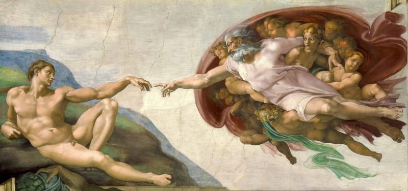 Michelangelo-Creazione di Adamo
